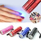 Portable Mini 9 LED Flashlight UV Lamp Nail Dryer Fast Dry Nail Care