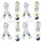 Color Virgin Mary  Pope Embroidery Christening Stole Scarf Sash New Born 7 yrs