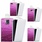 pu leather flip case cover for Mobile phones - purple lumber flip