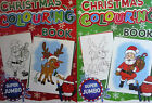 Super Jumbo A4 Christmas Colouring Book (192 Xmas Pages) Red or Green
