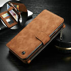 Genuine Leather Case Cover Zipper Wallet Card Multifunction For iPhone 7/ 7 Plus