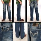 Внешний вид - Rock & Roll Cowboy Boys Double V BB Gun Boot Cut Jeans BB-9576