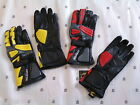 Belstaff Motorcycle Glove Leather Python Black Red Yellow Medium Small Large New