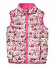 BNWT Joules Girls Croft Ditsy Flowers Print Pack Away Gilet Warm Cosy Zip Up