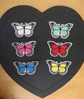 3 pieces of embroidered butterfly, 8cm x 4.5cm, choice of colours