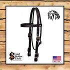 WESTERN HEADSTALL AMERICAN MADE ~ QUALITY HEAVY LEATHER ~ LARGE HORSE/DRAFT SIZE