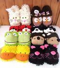 Aroma Home Fuzzy Friends Slippers ~ Assorted Animals ~ New ~