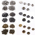 100 Complete Sets Silver/Brass Press Snap Popper Prong Fastener DIY New 10/15mm