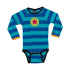 BNWT Baby Boys Girls Villervalla Ocean and Azure Blue Stripe Bodysuit NEW Vest