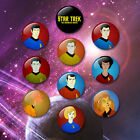 Star Trek The Animated Series style 38mm Badges & Fridge Magnet set Enterprise