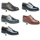Kyпить Mens New Wide Fitting Black / Brown Leather Gibson Oxford Brogues Shoes 6 - 14 на еВаy.соm