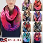 Soft Woven Zig Zag Chevron Double Loop Infinity Circle Scarf