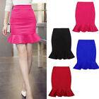 Fitted Short Pencil Bodycon Mermaid Fish Tail Skirt  High Waisted Solid Color