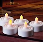 Premier 6 Battery Operated Flickering Amber LED Tea Lights Wedding Party Night
