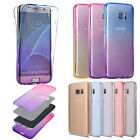 samsung s5 phone cover - 360°full Cover Slim clear Soft Silicone Rubber protective phone Case For Samsung