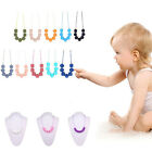 Baby Silicone Teeth Chain Necklace Teether BPA-Free Polygon Bead Charm Necklace