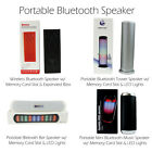 Portable Bluetooth Speaker w/ Memory Card Slot