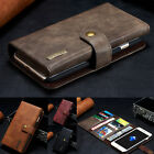 Genuine Leather Detachable Magnetic Wallet Card  Case Cover For Various Phones