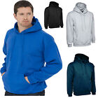 Mens Premium Plain Hoodie Size XS to 3XL Sweatshirt Warm 350GSM
