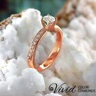 14k Rose Gold Engagement Ring XMAS 1.09 CT Real Diamond SI F-G Size 6 Enhanced