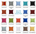 15x15 Sunbrella Outdoor PILLOW COVER Solid Canvas Zippered Pillow Cover 38cm