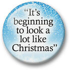 Christmas Song Lyrics 38mm badges & Fridge Magnets Xmas Santa Jingle Music Buble