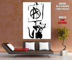Banksy Rat Anarchy Pacifism Cool Graffiti Art Giant Wall Print POSTER