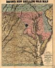 Civil War, 1864, Seat of war in Virginia and Maryland, Photo Map Print