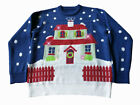 House With Too Many Lights, Light Up Blue Ugly Christmas Sweater, FunQi Gift