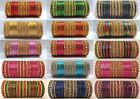 Indian Gold Tone Color Glitter Style Fashion 48 pc Bangles Set  2.6, 2.8 Jewelry
