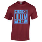 West Ham Straight Outta COYI Hammers Irons t shirt Claret Bubbles London