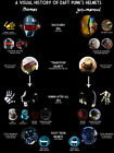 Daft Punk History of Helmets Electronic Duo Huge Giant Print POSTER Plakat