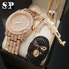 Hip Hop Iced Out GOON, AK47 Necklace & Lab Diamond Watch image
