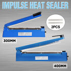 Impulse Heat Sealer Sealing Machine Electric Plastic Poly Bag Tea 300mm/400mm