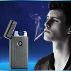 USB Rechargeable Flameless Electric Double Arc Windproof Cigar Cigarette Lighter