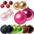 Premier Christmas Tree Decoration Glass Baubles - Various Sizes Colours