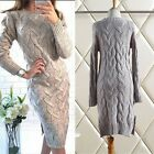 New Autumn winter Korean fashion temperament shitsuke Knitting sweater dress