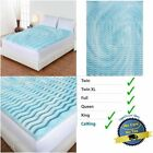 2 Inch Cooling Gel Foam Mattress Topper Pad Bed Cushion 5 Zone Orthopedic Firm image