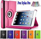 360 Rotating PU Leather Smart Folio Stand Case Cover Pouch For Apple iPad Mini 4