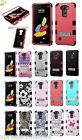 For LG Stylo 2 V VS835 IMPACT TUFF HYBRID Rubber Protector Case Skin Phone Cover