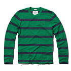 NEW ABERCROMBIE & FITCH for MEN A&F Tupper Lake Crew Tee Green/Navy Stripe S-XXL