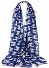GFM Vintage Cats with bow Cat Printed All Seasons Scarf