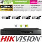 HIKVISION 4 CHANNEL 2MP HD-TVI BNC 1 2 3 4 Camera DVR CCTV KIT SECURITY SYSTEM