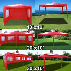 New Deluxe Outdoor Party Wedding Tent Gazebo Events Pavilion - Red