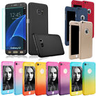 360° Full Body Slim Hard Protector Skin Case Cover For iPhone &Samsung +9H Glass