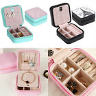 Necklace Ring Cosmetic Leather Jewelry Box Travel Storage Case Organizer Display