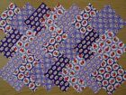 PURPLE FLORAL ~ COTTON FABRIC PATCHWORK SQUARES PIECES CHARM PACK 2 3 4 5 INCH