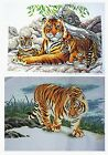 "New Finished Completed CrossStitch needlepoint ""Tiger"" freeshipping to USA"