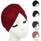 Women Indian Stretchy Cotton Turban Chemo Hat Head Wrap Band Hijab Cap