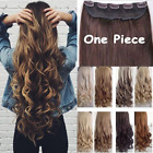 UK Seller ear to ear Clip in Hair extensions 1pc look real curly straight